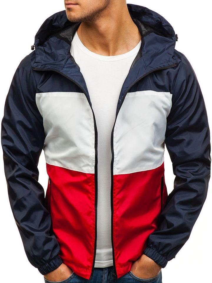 Férfi átmeneti sportos dzseki sötétkék-piros színben Bolf HS01 Sötétkék -piros 151df441a7