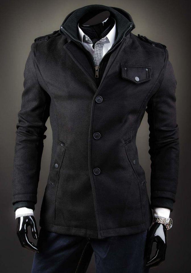 Férfi kabát fekete Bolf 8853D dd90eb1c8a