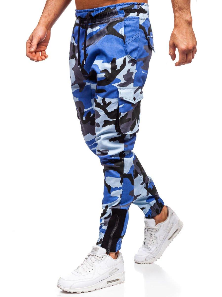Férfi katonai jogger nadrág kék Bolf 0705
