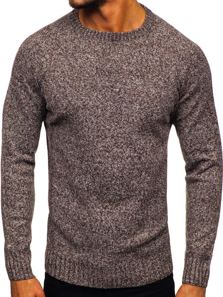 Férfi pulóver barna Bolf H1929