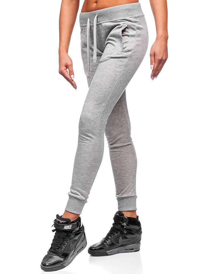 Női melegítő nadrág sportos, divatos szürke M