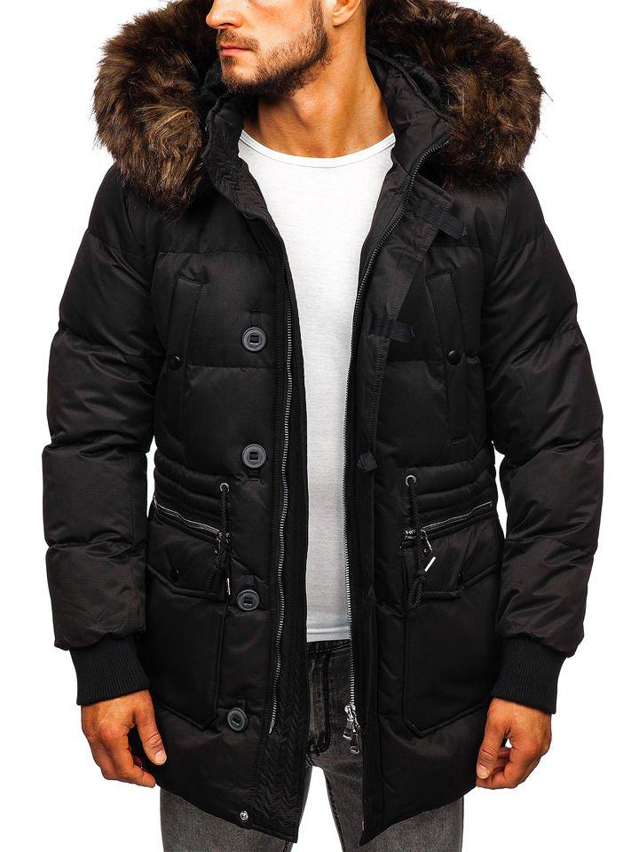 Téli férfi dzseki fekete színben Bolf 99116