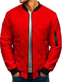 1b3068eb2e Átmeneti férfi bomber dzseki piros színben Bolf AK76-A