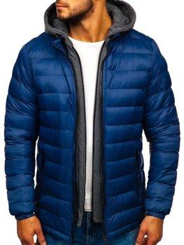 Férfi téli dzseki kék Bolf 2019 Kék
