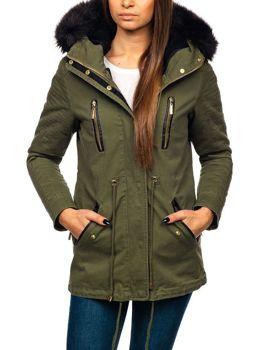 Női téli dzseki zöld Bolf M16 d1a4a5e7e0