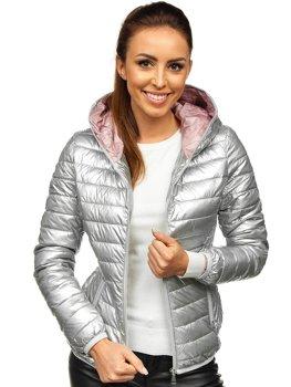 Steppelt átmeneti női dzseki kapucnival gránátkék Bolf R9546