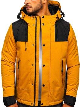 Narancssárga steppelt férfi dzsekik Kollekció 2020