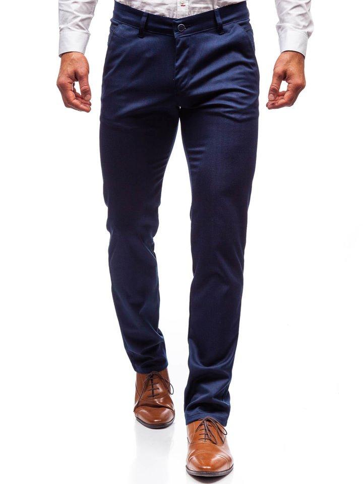 Alkalmi férfi nadrág kék színben Bolf 7623 Kék