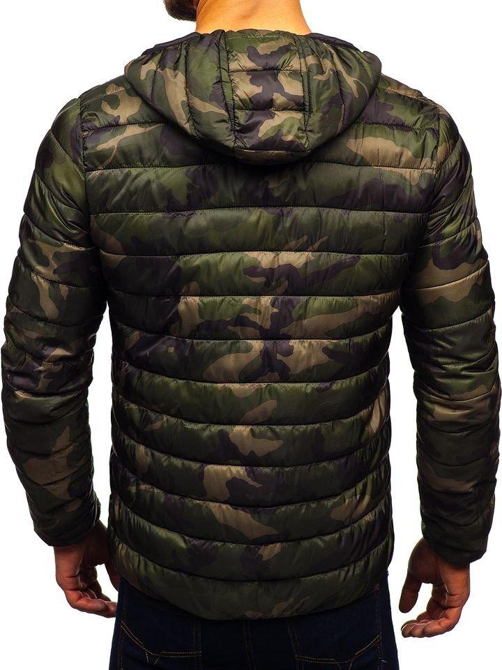 Zöld színű, steppelt, átmeneti dzseki S, M, L, XL, 2XL Bet