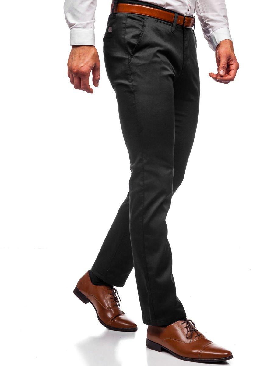 Stílusú férfi chino nadrág fekete | manCLOTHES.hu