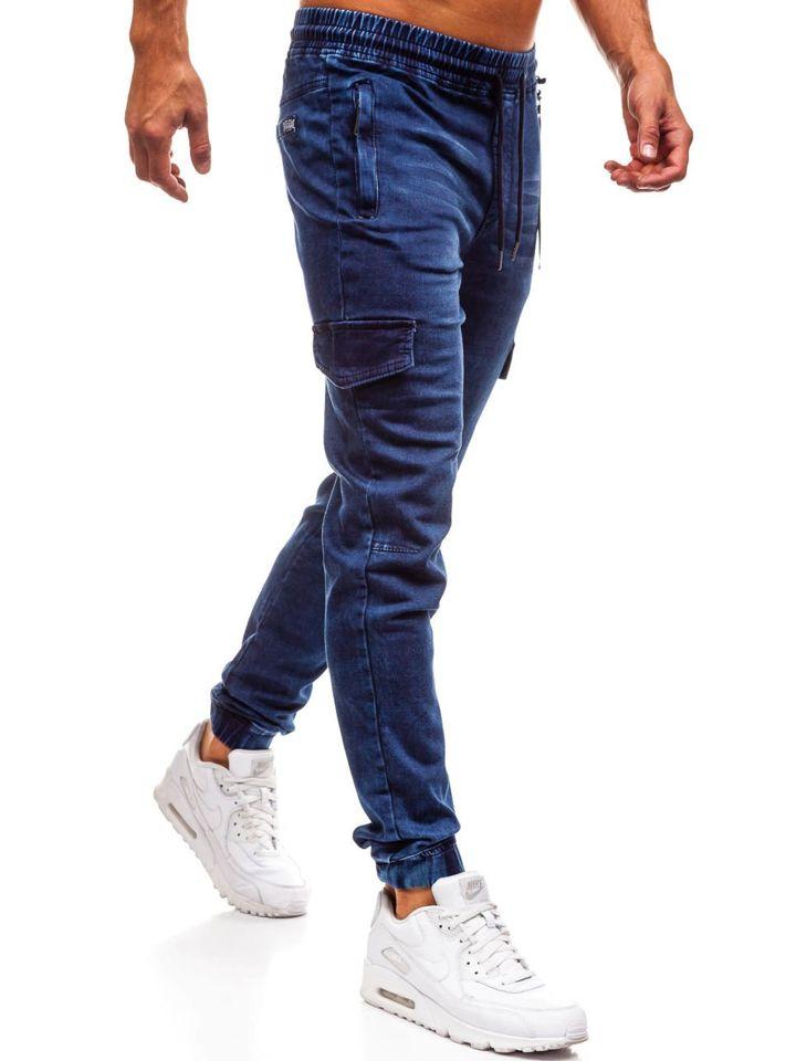 férfi farmer nadrág középkék | Gyors Kiszállítással férfi
