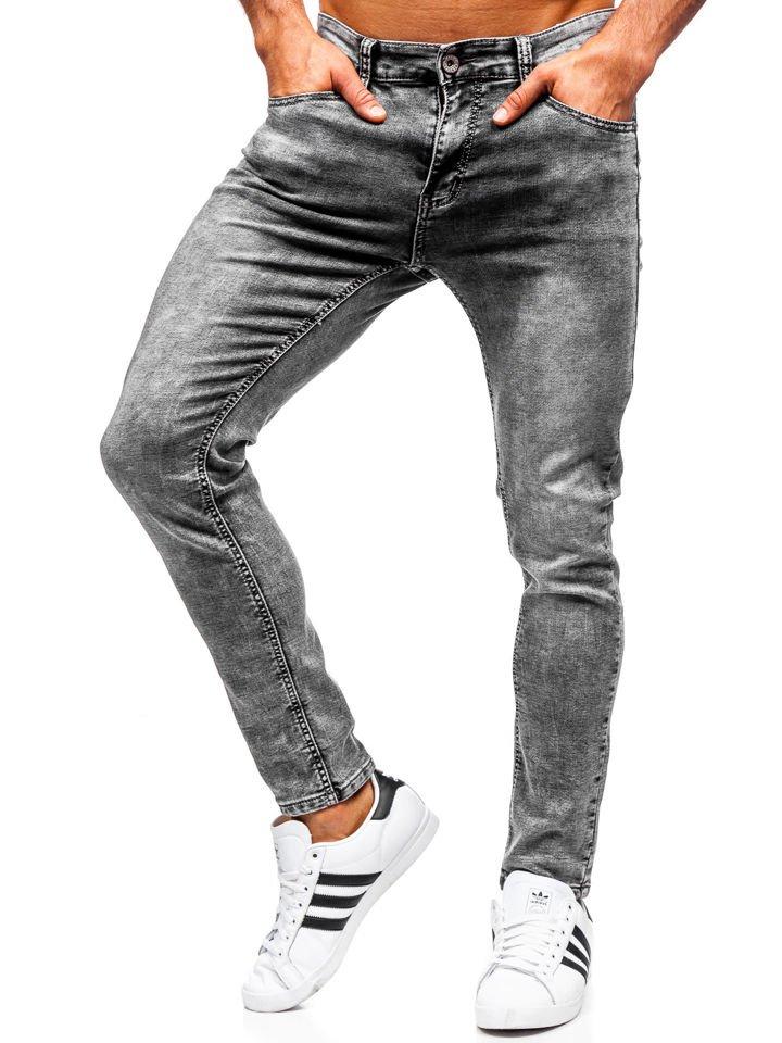Férfi farmernadrág slim fit fekete Bolf KX186