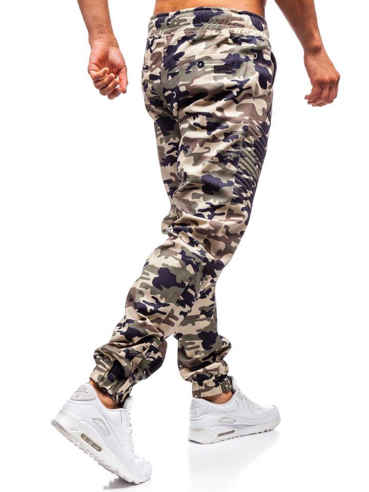 Férfi jogger nadrág moro bézs színben 0952