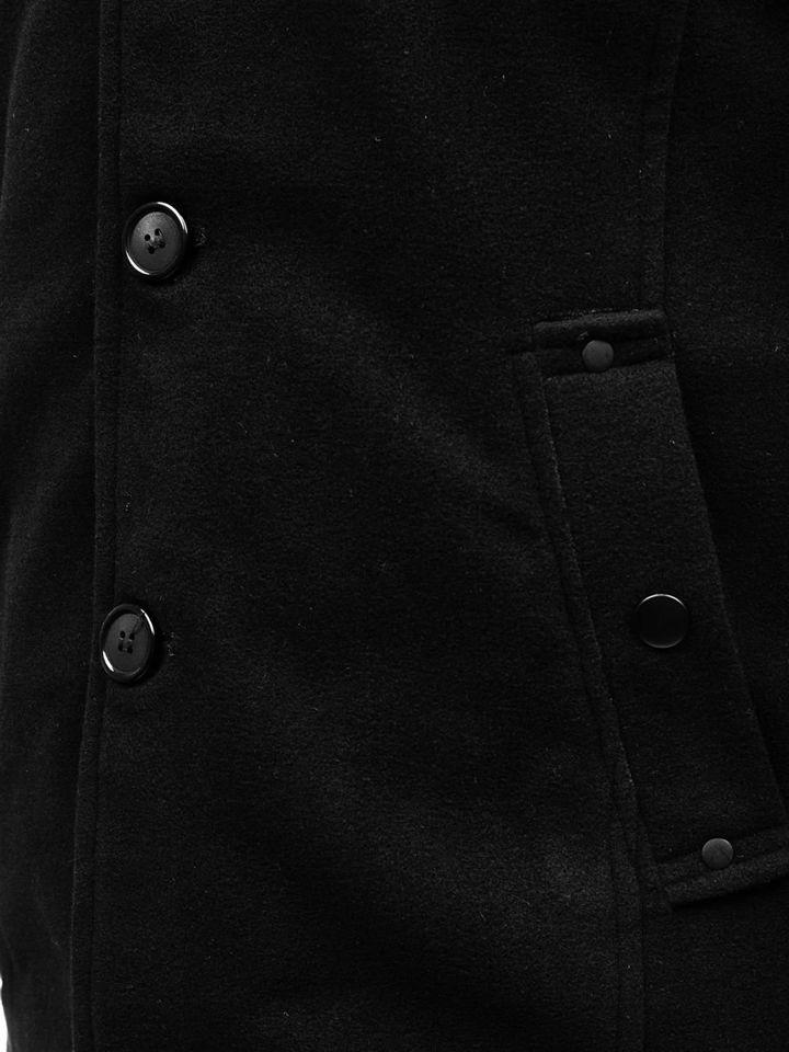 a154b53b57 Férfi kabát fekete színben Bolf 8853A