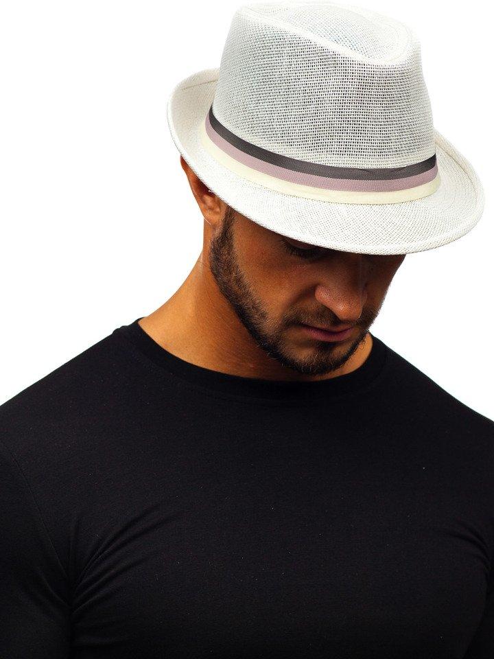 Férfi kalap fehér színben Bolf KAP214 Fehér