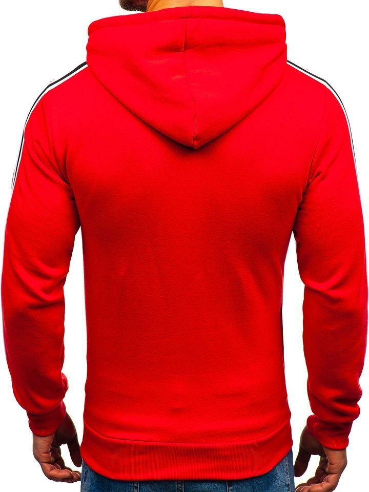 ... Férfi kapucnis pulcsi mintával piros színben a Bolftól KS1801-A ... 0eb3c66e71