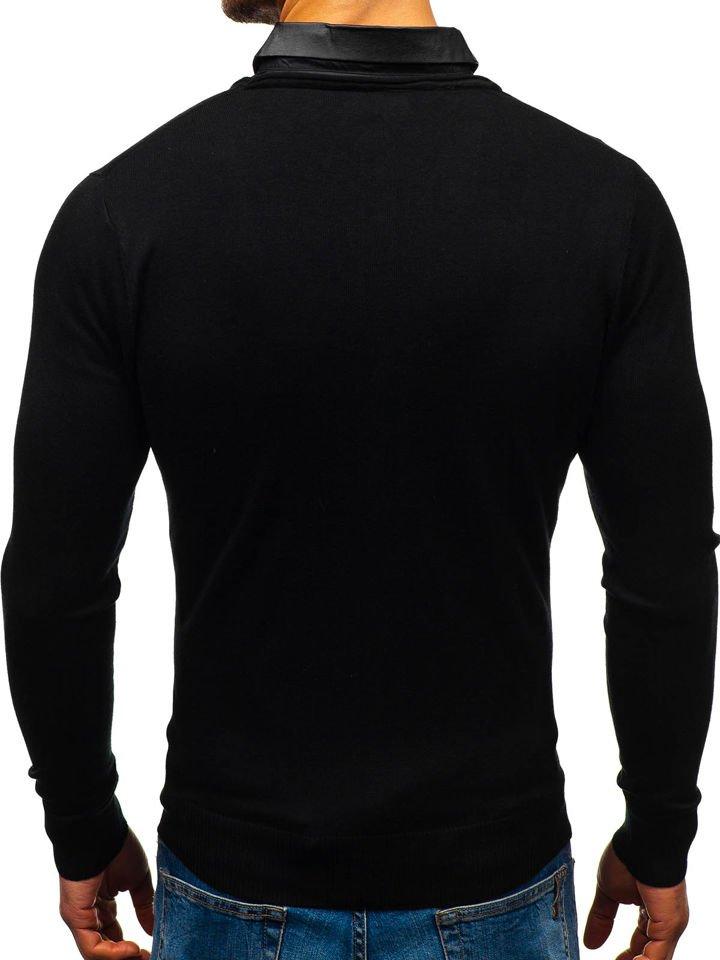 Férfi pulóver 2az1 ben fekete inggel Bolf 88132