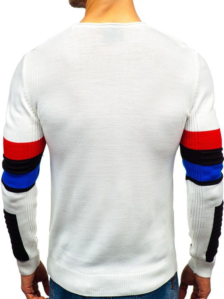 1cfb8842a448 ... Férfi pulóver fehér színben Bolf 1002 ...