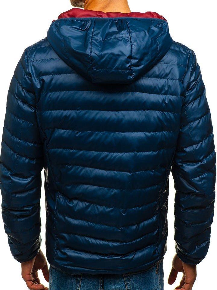 4f087bb55f Férfi sportos átmeneti kabát sötétkék színben Bolf 1811 Sötétkék