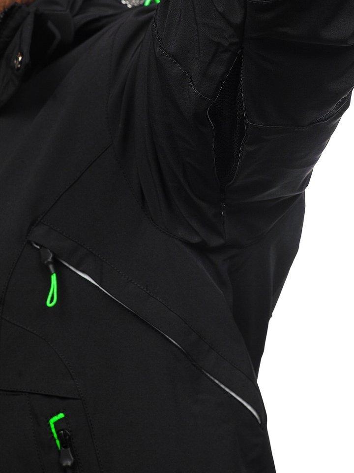 Férfi téli sídzseki fekete zöld Bolf 1910 Fekete zöld