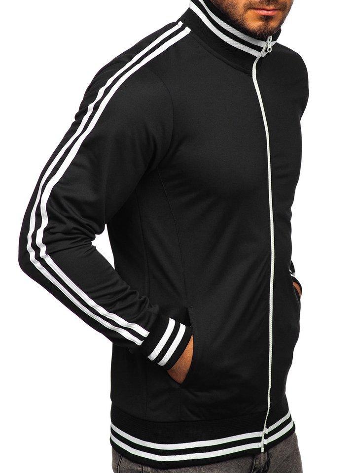 Férfi nyitható pulcsi kapucni nélkül retro style fehér Bolf 11113