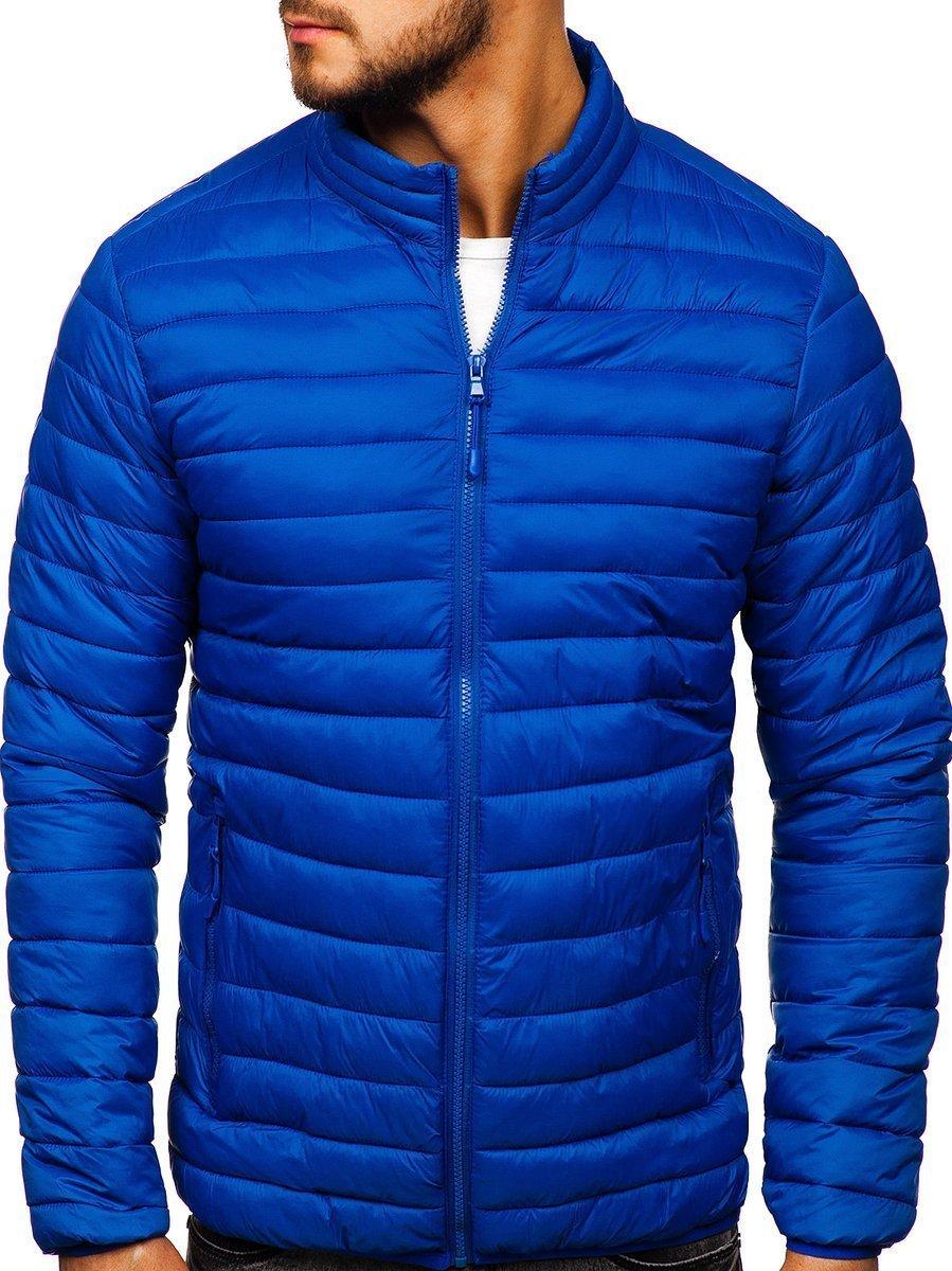 Steppelt átmeneti férfi dzseki kék Bolf LY33
