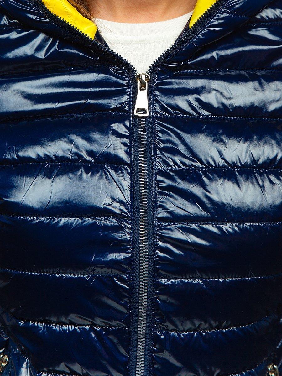 Steppelt átmeneti női dzseki kapucnival ezüst Bolf R9546 Ezüst