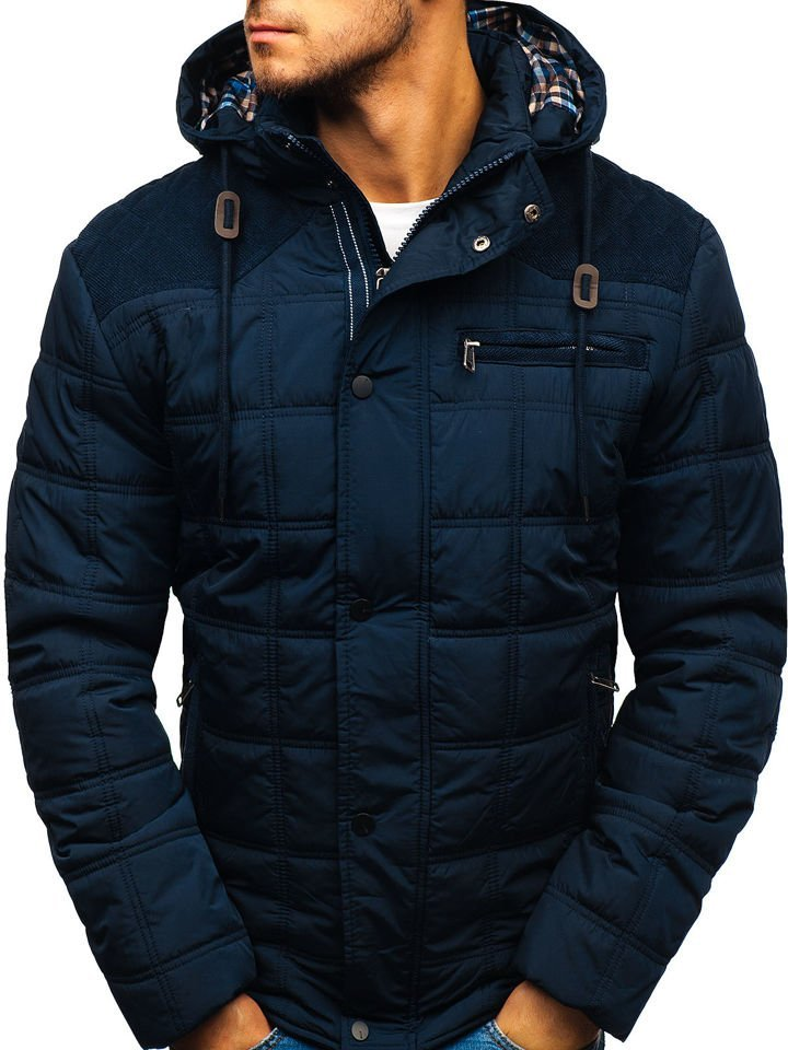 Téli férfi dzseki sötétkék Bolf 1820