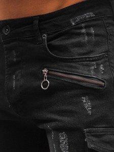 Férfi farmer rövidnadrág fekete színben Bolf 3001 Fekete