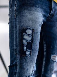 Férfi kockás zakó M 1801 kék