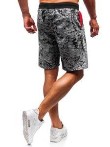 Férfi melegítő rövidnadrág szürke színben Bolf 300105
